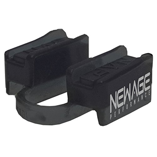 New Age Performance 6DS Sports And Fitness Weight-Lifting Mouthpiece - Lower Jaw - No-Contact - Includes Case - Black