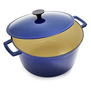 Sur La Table Blue Lightweight Cast Iron Dutch Oven 25316 , 8 qt. by Sur La Table