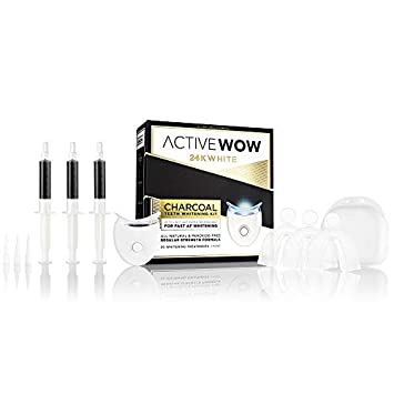 Active Wow Natural Charcoal Teeth Whitening Kit – With LED Accelerator