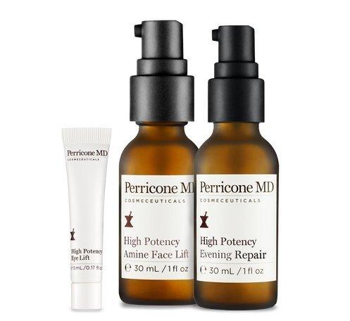 Perricone MD High Potency Prescription Set- Amine Face Lift, Evening Repair, Eye ()