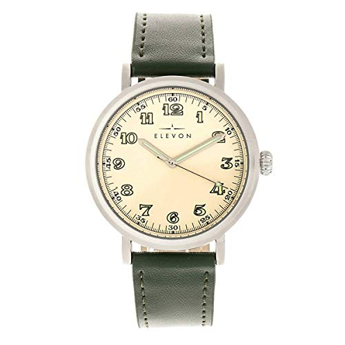 Felix Quartz Green Genuine Leather Silver Men's Watch - Elevon ELE109-1