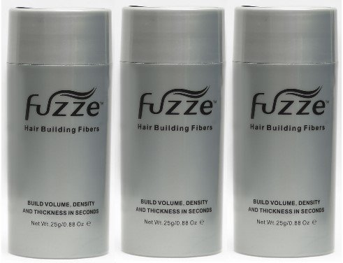 3 Pack Special Fuzze Second Generation Keratin Hair Building Fibers – Dark Brown – 25g/0.88 oz. – Adds Volume and Thickness to Balding or Thinning Hair