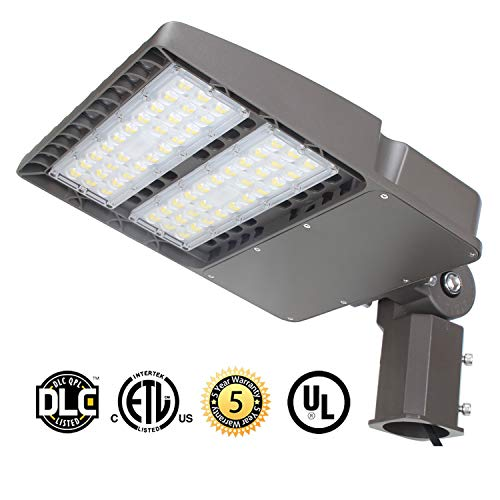 LED Parking Lot Lights 150W, 19000LM LED Shoebox Pole Lights Fixture (400W HID/HPS Replacement) 5700K, IP65, AC 100-277V, DLC UL Listed, Outdoor Area Street Security Lighting for Stadium, Roadways ()