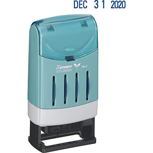 Xstamper 52113 Xstamper VersaDater Pre-Inked Line Message/Dater, 1 5/16 x 2 1/8, Blue