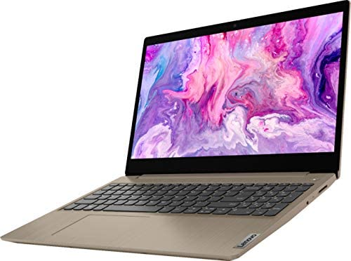 "2021 Lenovo IdeaPad 3 15.6"" HD Touchscreen Laptop, Intel Core i3-1005G1 Processor, 8GB RAM, 256GB SSD, HDMI, Windows 10 S, Almond, W/ IFT Accessories"