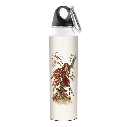(Tree-Free Greetings VB47537 Amy Brown Fantasy Artful Traveler Stainless Water Bottle, 18-Ounce, Autumn Daydream Fairy)