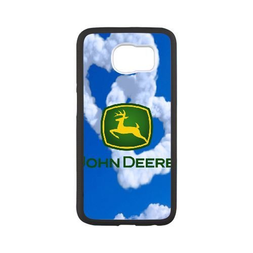 Durable Rubber Cover Samsung Galaxy S6 Cell Phone Case White Szahl John Deere Special Design Cases