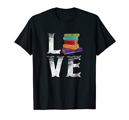 Love Reading Books Tee Reader Brain Food T shirt Gift Nerd]()