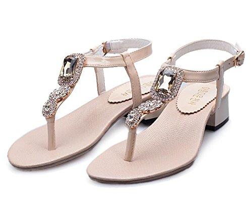 sandales Beige femmes mode de Diamant g8qwEYgH