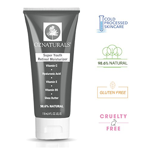 OZNaturals Retinol Moisturizer - Best Anti Aging, Anti Wrinkle Retinol Cream, 98% Natural, 4 fl. oz