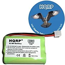 HQRP Cordless Phone Battery for General Electric GE 5-2461, 5-2522, 5-2523, 5-2569, 5-2637, 5-2650, 5-2660 Replacement + HQRP Coaster