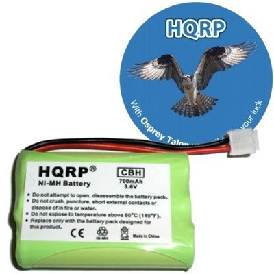 HQRP Cordless Phone Battery for General Electric GE 5-2683, 5-2705, 5-2721, 5-2781, HS21002GE2 Replacement + HQRP Coaster