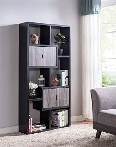 (Smart home 172224 Contemporary Bookcase Display Shelf Cabinet)