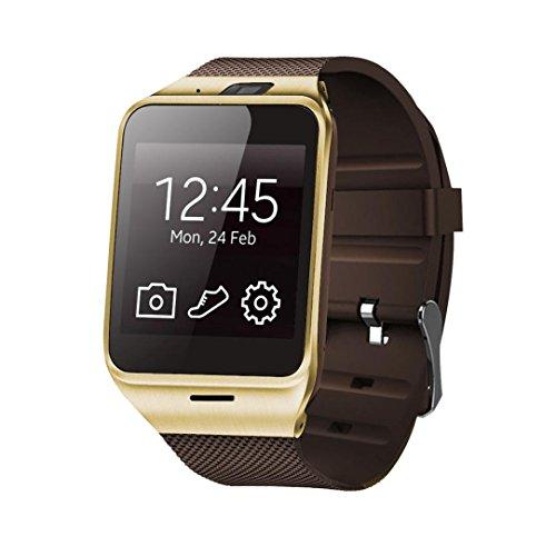 LHWY Aplus GV18 Bluetooth Smartwatches Handy GSM NFC Kamera wasserdicht Armbanduhr für Samsung iPhone (Gold)