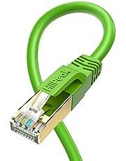 HiiPeak Lan Kabel Cat 8 Nätverkskabel med 40 Gbps Ethernet Hastighet och 2000 Mhz Arbetsfrekvens, Rj45 Kabel med Guldpläterade Kontakter, grön 2m