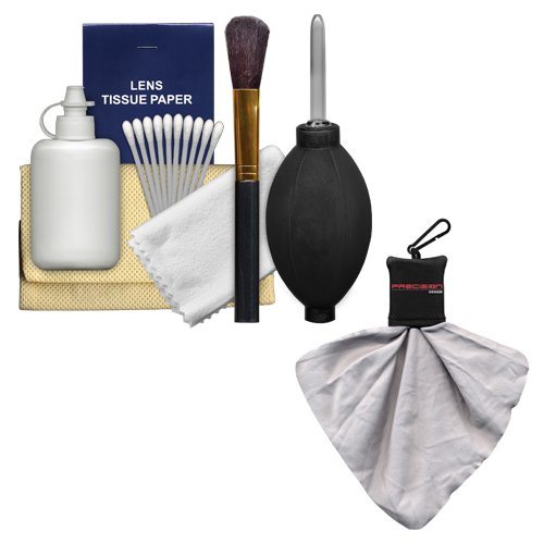 Amazon.com : Precision Design 6-Piece Camera & Lens Cleaning Kit with Blower, Brush, Fluid, Cloth, Tissues & Tips + Spudz Cloth : Camera & Photo