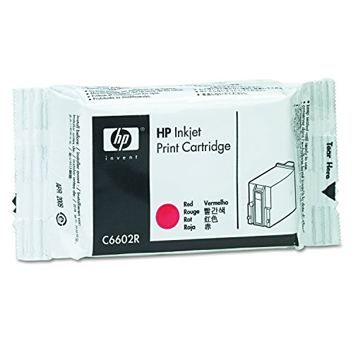 HP Red Reduced Height Original Ink Cartridge (C6602R)