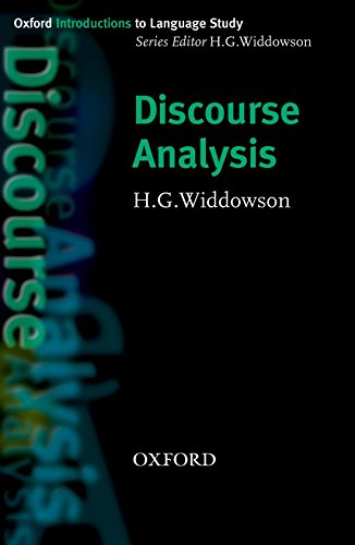 Discourse Analysis (Oxford Introduction to Language Study Series)