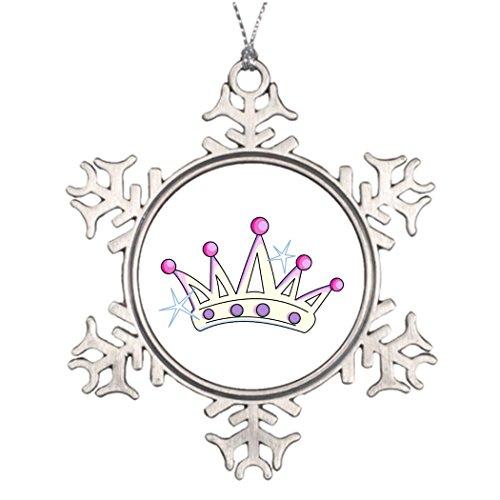 Large Christmas Tree Snowflake Ornaments Tiara Wedding Snowflake Ornaments Girls