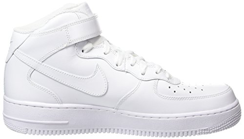 Le White Mid '07 Donna Sportive White Bianco 1 Wmns Nike Air Force Scarpe TqwIxY47