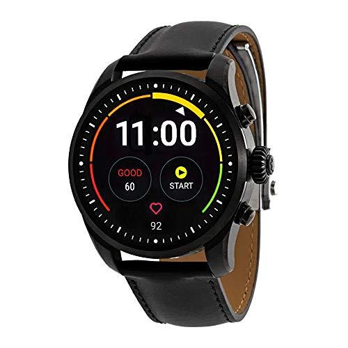 Montblanc Summit 2 Smartwatch 119438 Black Steel Black Calfskin Strap