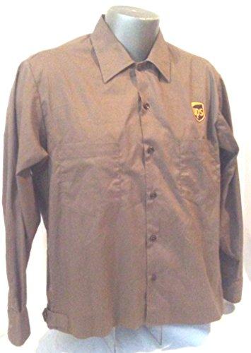Ups Uniforms (UPS Uniform Shirt Size Large, Brown Delivery Driver Shirt, Long Sleeve UPS Shirt, UPS Costume, Button at Waist)