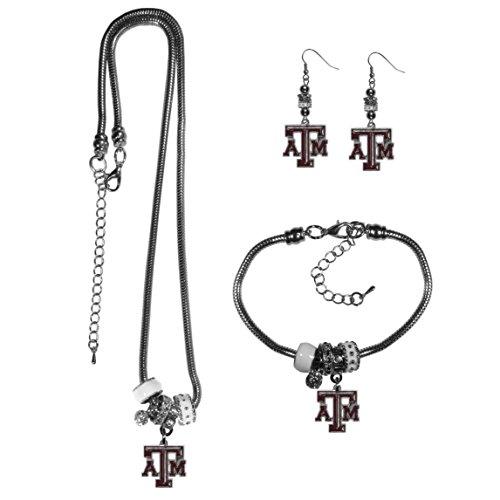 - Siskiyou NCAA Texas A&M Aggies Euro Bead Jewelry Set of 3