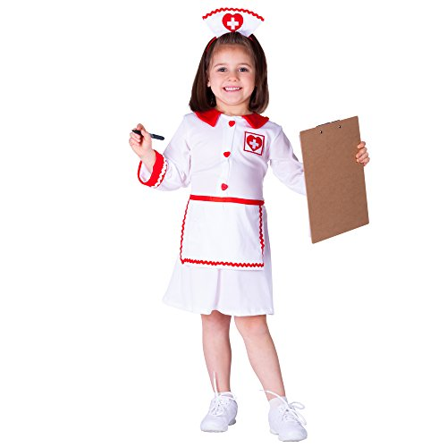 Red Cross Nurse - Small 4-6 (Nurse Costume For Kids)