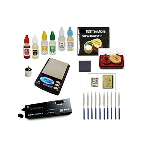 (Gold Acid Testing Kit + Electronic Diamond Tester Checker + Digital Test Scale)