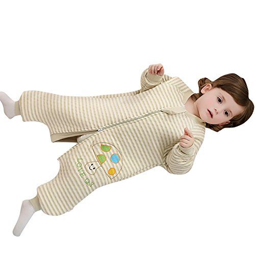 Luyusbaby Organic Cotton Patterned Wearable Blanket with Feet Small