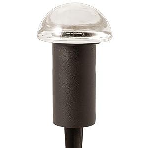 Hampton Bay Low Voltage 10-Watt Black Halogen Mushroom Bollard Light