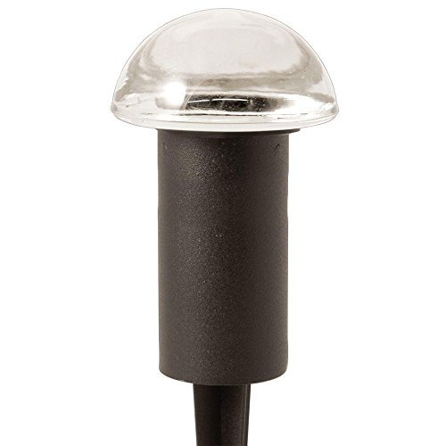 Hampton Bay Low Voltage 10-Watt Black Halogen Mushroom Bollard ()