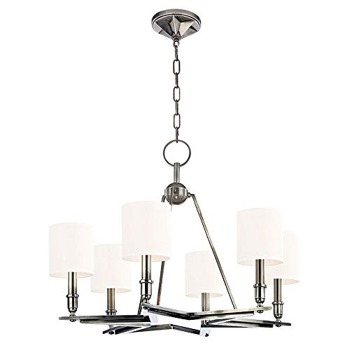- Hudson Valley Lighting 4086-AS-WS Bethesda - Six Light Chandelier, Aged Silver Finish with Wilshire Glass
