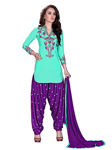 Ready Made Patiala Salwar Embroidered Cotton Salwar Kameez Suit  India/Pakistani Dress OF 9008