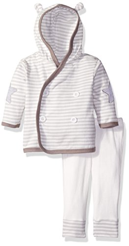 Rene Rofe Baby Dreams 2 Piece Hooded Cardigan and Pant Set, Sweet Oatmeal, 6-9 Months