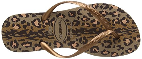 Havaianas Slim Animals, Chanclas Mujer Varios Colores (Rose Gold/Dark Copper 8547)