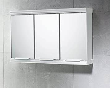 Gedy Door Mirror Bathroom Cabinet White Gloss Amazon Co Uk