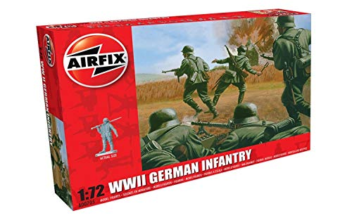 (Airfix WWII German Infantry Figures 1:72 Military Soldiers Plastic Model Kit)