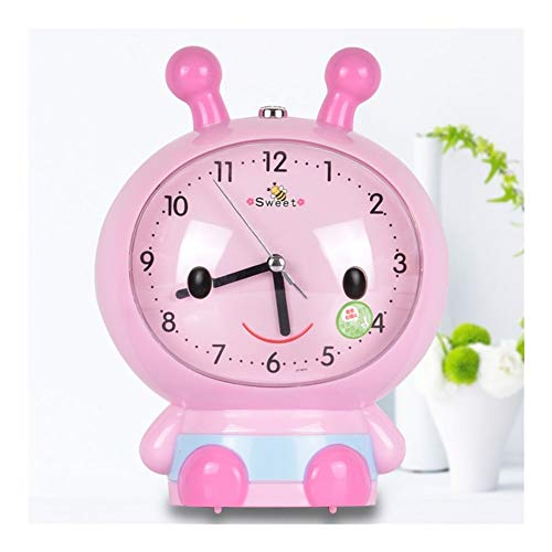 JQWGYNZ Alarm Clock Bedroom Student with Female Creative Mute Small Clock Intelligent Electronic Children's Bed Simple Charging Multifunction (Color : B)