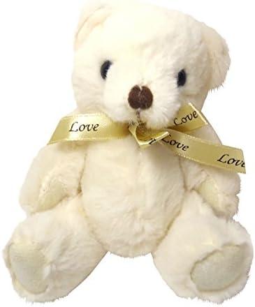しあわせ倉庫 プレゼントベアー 熊 ぬいぐるみ で サプライズ 巾着袋 プレゼント 結婚式 誕生日 パーティ- ギフト ラッピング (ホワイト)