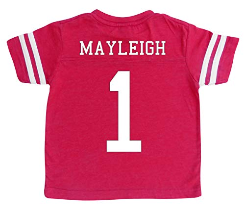 (Custom Football Sport Jersey Toddler & Child Personalized with Name and Number (5/6, Vintage)