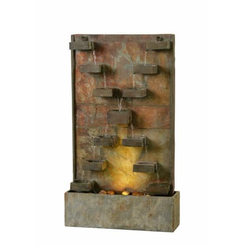 Kenroy Home 51033SL Watercross Floor Fountain, Natural ()