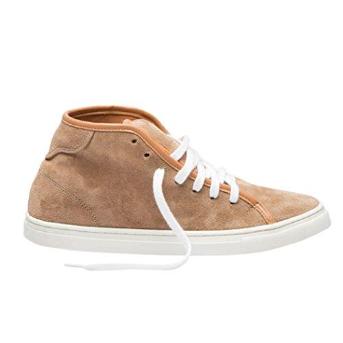 Tedish Sneakers Damer Travesko Pige Læder Komfortabel Afslappet Lace-up Flats Td005 Esoteriske Praline Praline EFMSHu3