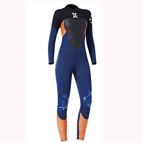 YILINLZ Modern Women Wetsuit 2019 New Premium 3.5mm Neoprene Scuba Skin UPF 50++ High Elasticity Back Zip for Spearfishing Watersports,Orange,S
