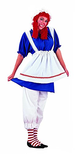Make Raggedy Andy Costume (Rag Doll Adult Costume - Large)