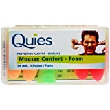 Quies 3 Paires de Protection Auditive en Mousse - Couleur: Couleurs assorties