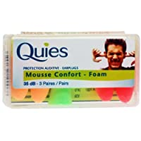 Quies Protection Auditive - Earplugs 35dB-3 Pairs