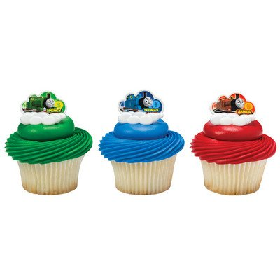 Thomas & Friends Steam Team Cupcake Rings - 24 ct -