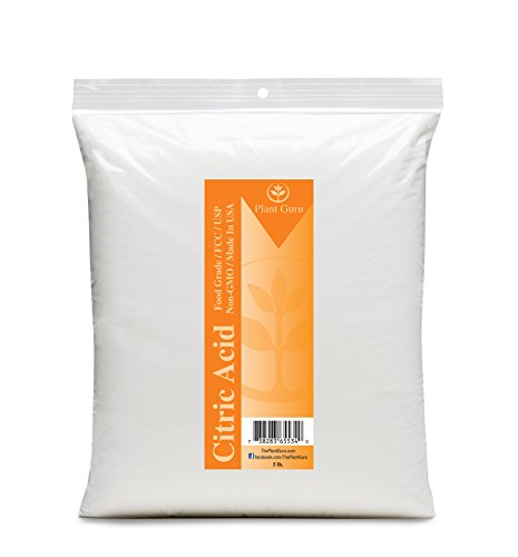 Citric Acid - Food Grade 5 lb. in Quality Heat Sealed Resealable Zip Lock Pouch