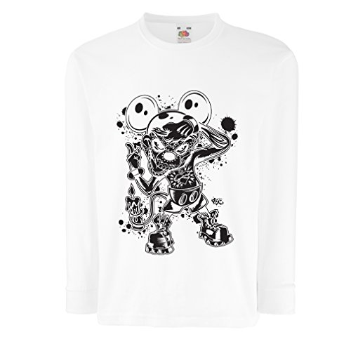 lepni.me Camisetas de Manga Larga para Niño a Mouse with an Amazing Halloween Costume -Party Outfits (9-11 Years Blanco...